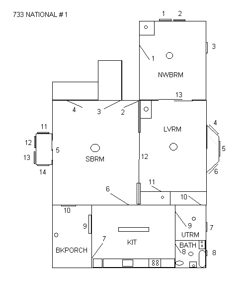 733 S National, Fort Scott, Bourbon County, Kansas, United States 66701, 1 Bedroom Bedrooms, ,1 BathroomBathrooms,Apartment,For Rent,S National,1,1019