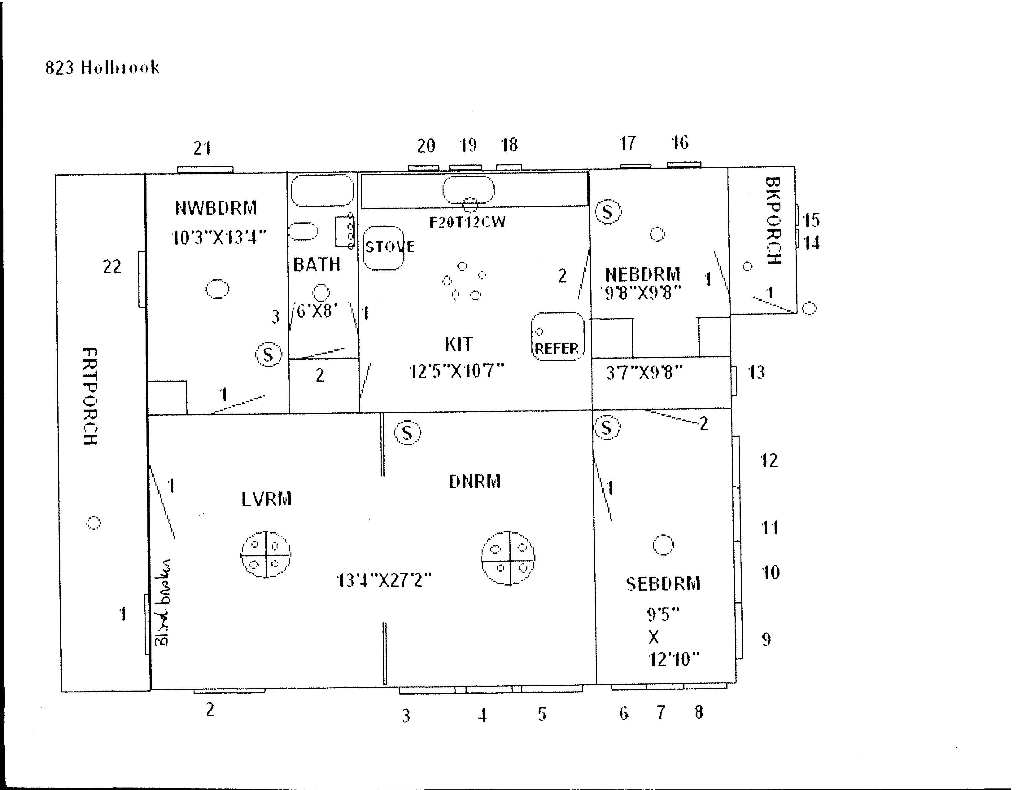 823 S. Holbrook, Fort Scott, Bourbon County, Kansas, United States 66701, 3 Bedrooms Bedrooms, ,1 BathroomBathrooms,House,For Rent, S. Holbrook,1,1003